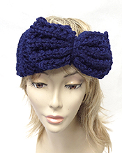 CHUNKY BOW KNIT WINTER HEADWRAP