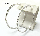 60 MM RHINESTONE HOOP EARRING - HOOPS