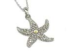 CRYSTAL DECO STARFISH NECKLACE