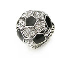 CRYSTAL STUD SOCCER BALL STRETCH RING