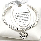 MESSAGE HEART CHARM AND METAL STRETCH BRACELET