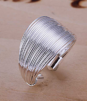 925 STERLING SILVER PLATING ADJUSTABLE SIZE RING