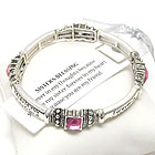 RELIGIOUS INSPIRATION MESSAGE STRETCH BRACELET - SISTER'S BLESSING - BOOKMARK INCLUDED