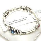 INSPIRATION MESSAGE STRETCH BRACELET - MOTHERS - BOOKMARK INCLUDED
