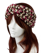 MULTI COLOR KNIT HEADWRAP - 100% POLYESTER