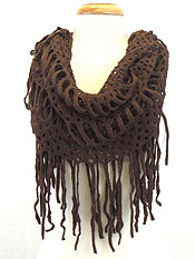 INFINITY NET AND FRINGE SCARF