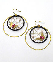 HANDMADE TWO LAYER WIRE HOOP EARRINGS