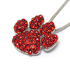 CRYSTAL PAW PRINT PENDANT NECKLACE