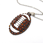 CRYSTAL FOOTBALL PENDANT NECKLACE