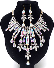 LUXURY CLASS VICTORIAN STYLE AND AUSTRIAN GLASS DROP PARTY NECKLACE SET