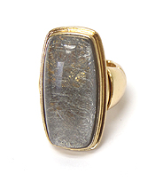 LONG FINGER FORMICA STONE STRETCH RING