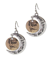 LOVE THEME MOON EARRING - I LOVE YOU TO THE MOON AND BACK