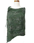 EMBROIDED FLOWER SHAWL COCCON AND STOLES