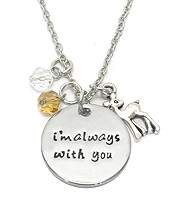 INSPIRATION MESSAGE MULTI CHARM PENDANT NECKLACE - IM ALWAYS WITH YOU
