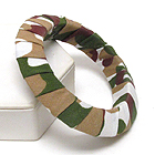 MILITARY PATTERN WOODEN BANGLE BRACELET