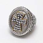CRYSTAL CROSS GLAMOROUS PUFFY METAL STRETCH RING
