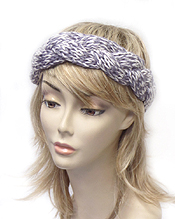 CROCHET KNIT WOVEN WINTER HEADWRAP