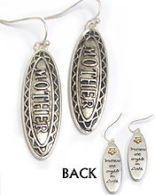 BOTH SIDE MESSAGE EARRING - ANGEL MOTHER