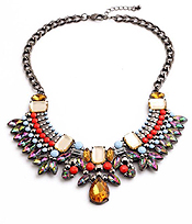 BOUTIQUE STYLE LUXURY CRYSTAL BIB NECKLACE
