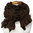 100% POLYESTER GAUZY PUCKERED SCARF