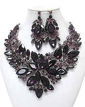 LUXURY CLASS VICTORIAN STYLE AND AUSTRIAN CRYSTAL PARTY NECKLACE SET