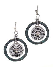 CRYSTAL CENTER BULLET EARRING