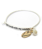 INSPIRATION WIRE BANGLE BRACELET - ITS WELL WITH MY SOUL