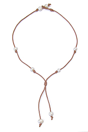 FRESHWATER PEARL CORD Y SHAPE NECKLACE