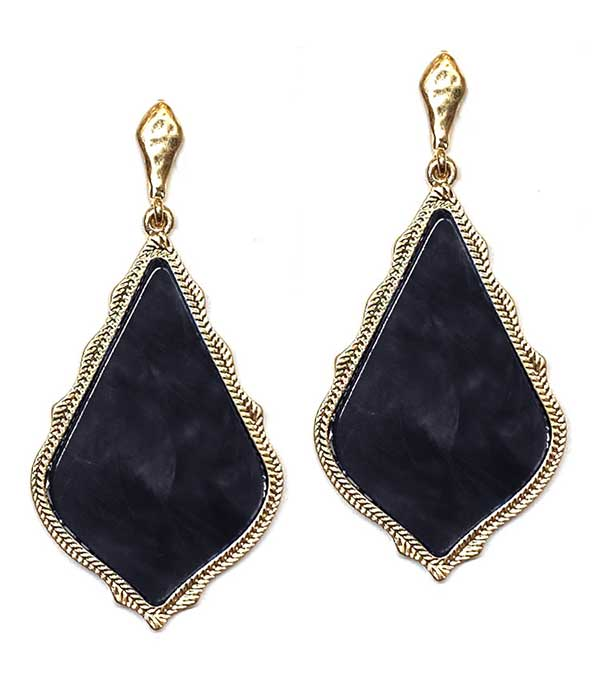 FACET STONE DROP EARRING