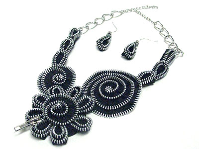 Shop Fashion Jewelry on N11293bk 106105 Wholesale Fashion Jewelry Zipper Art Flower Fashion