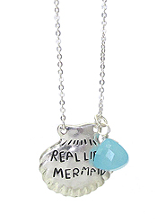 INSPIRATION METAL SHELL PENDANT NECKLACE - REAL LIFE MERMAID