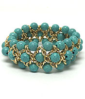 Wholesale Jewelry - CHAIN AND BEADS STRETCH BRACELET