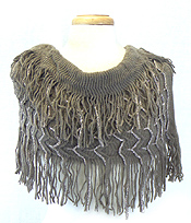 GLITTER FRINGE WITH TASSEL DROP INFINITY SACRF - Wholesale Fashion Accessories