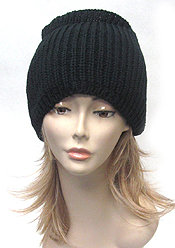 OPEN TOP KNIT BEANIE