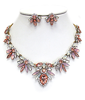 LUXURY CLASS VICTORIAN STYLE AUSTRIAN CRYSTAL PARTY NECKLACE SET