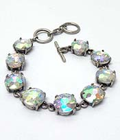 CATHERINE POPESCO INSPIRED CRYSTALS LINK BRACELET