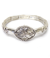 TREE OF LIFE MESSAGE STRETCH BRACELET - THE FRUIT OF THE RIGHTEOUS IS A TREE OF LIFE AND THE ONE WHO IS WISE SAVES LIVES