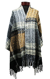 CHECKER LONDON PLAID SHAWL OR BLANKET SCARF
