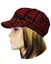 PLAID CHECKER TWEED CABBIE