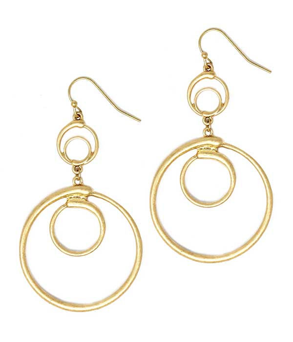 MULTI RING DROP EARRING