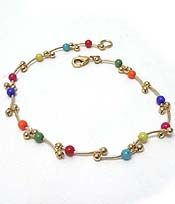 METAL WITH BEADS ANKLET