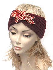 MULTI BEAD KNIT HEADWRAP