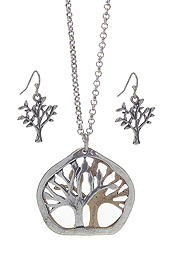TREE OF LIFE THEME PENDANT NECKLACE SET