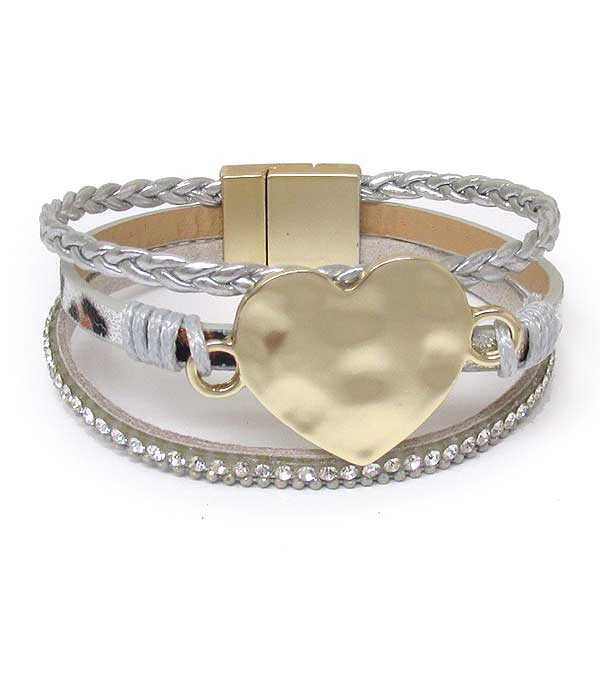 HEART AND MULTI LAYER MAGNETIC BRACELET