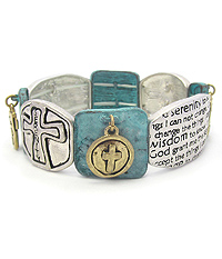 RELIGIOUS INSPIRATION MESSAGE STRETCH BRACELET - SERENITY PRAYER