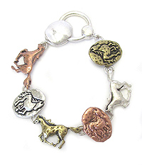 HORSE THEME MAGNETIC CLOSURE BRACELET