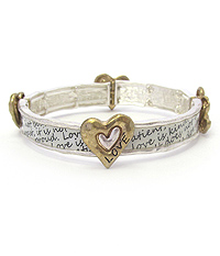 RELIGIOUS INSPIRATION MESSAGAE STRETCH BRACELET - LOVE