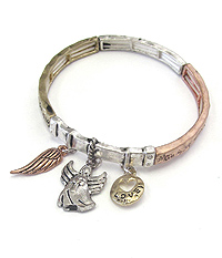 RELIGIOUS INSPIRATION MESSAGE STRETCH BRACELET - ANGEL BLESSING
