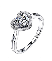 HEART CUBIC ZIRCONIA ENGAGEMENT RING