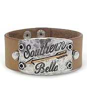 SOUTHERN BELLE THEME LEATHERETTE BAND BRACELET